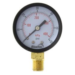 "2"" PEM Dual Scale Economy Pressure Gauge (0-60 PSI) Product Image"