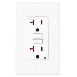 Self-test SmartlockPro Slim GFCI Duplex Receptacle , 20A - White (125V) Product Image