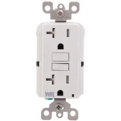 Self-test Tamper/Weather Resistant GFCI Receptacle, 20A, NEMA 5-20R - White (125V) Product Image