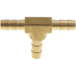 """1/4"""" Brass Hose Barb Tee Product Image"""