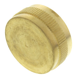 "3/4"" Brass Garden Hose Cap w/ Washer (Lead Free) Product Image"