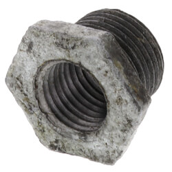 "3/8"" x 1/4"" Galvanized Malleable Hex Bushing Product Image"