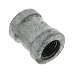 "1/4"" Galvanized Malleable Banded Coupling Product Image"