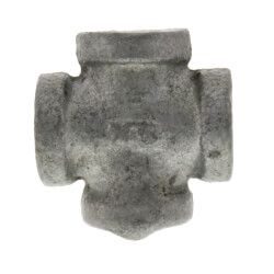 """1/4"""" Galvanized Malleable Cross Product Image"""