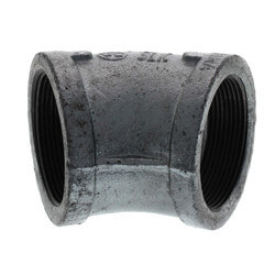 """2-1/2"""" Galvanized Malleable 45° Elbow Product Image"""