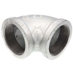 """2-1/2"""" Galvanized Malleable 90° Elbow Product Image"""