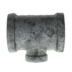 "3/4"" x 3/4"" x 1/4"" Galvanized Reducing Tee Product Image"
