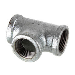 "2-1/2"" Galvanized Malleable Tee Product Image"
