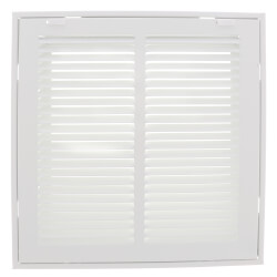 """12"""" x 12"""" (Wall Opening Size) Sidewall/Ceiling Return Air Filter Grille, 1/2"""" (White) Product Image"""