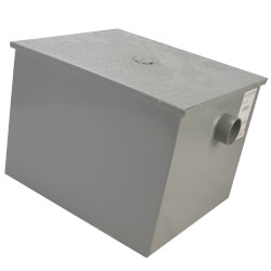 "3"" No-Hub Grease Trap w/ Flow Control, 35 gpm Product Image"