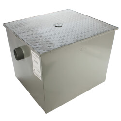 "100# Grease Trap, 50gpm, 3"" No Hub Connection Product Image"