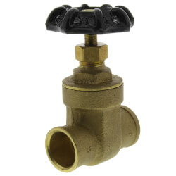"3/4"" Solder Ends Gate Valve (Lead Free) Product Image"