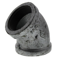 "1-1/2"" Galvanized Malleable 45° Elbow Product Image"