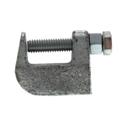 """3/8"""" Electro-Galvanized Wide Top Beam Clamp Product Image"""