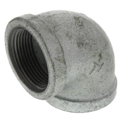 """1-1/4"""" Galvanized Malleable 90° Elbow Product Image"""