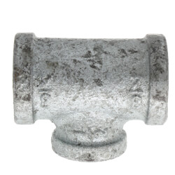 "3/4"" x 3/4"" x 1/2"" Galvanized Reducing Tee Product Image"