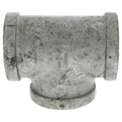 "1-1/4"" Galvanized Malleable Tee Product Image"