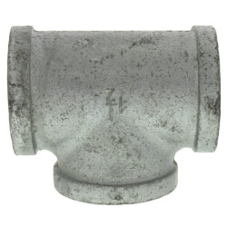"1-1/2"" Galvanized Malleable Tee Product Image"
