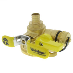 "3/4"" PEX Crimp Isolator Ball Valve w/ Multi-Function Drain & Rotating Flange, LF Product Image"