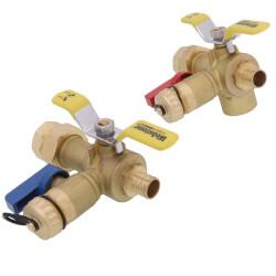 "3/4"" PEX Crimp Isolator E-X-P E2 Tankless Water Heater Service Valve Kit w/ 150 PSI PRV (LF) Product Image"