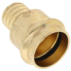 "1"" PEX Crimp x Copper Press Brass Adapter (Lead Free) Product Image"