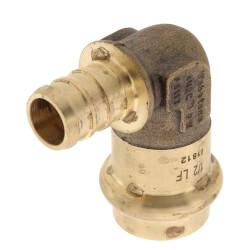"1/2"" PEX Crimp x Copper Press Brass 90° Elbow (Lead Free) Product Image"