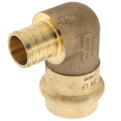 "3/4"" PEX Crimp x Copper Press Brass 90° Elbow (Lead Free) Product Image"