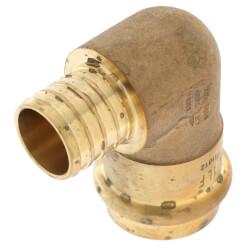 "1"" PEX Crimp x Copper Press Brass 90° Elbow (Lead Free) Product Image"