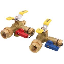 "3/4"" Expansion PEX Isolator E-X-P E2 Tankless Water Heater Service Valve Kit (LF) Product Image"
