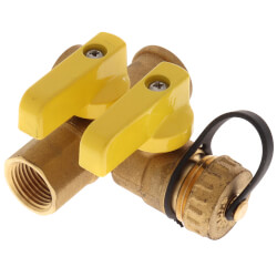 "1/2"" Pro-Pal Full Port Brass Ball Valve w/ Hi-Flow Hose Drain - FIP x FIP (600 WOG) Product Image"