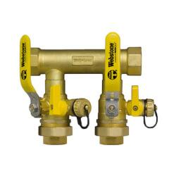 """1-1/4"""" Sweat Run x 1"""" Hydro-Core Dbl Ball Drain w/ (2) 3/4"""" Sweat Unions Product Image"""
