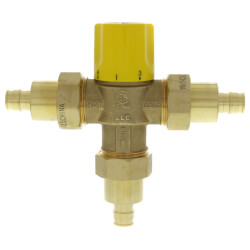 "1/2"" Expansion PEX Brass Thermostatic Mixing Valve w/ Check Valve, For Low Temp (LF) Product Image"