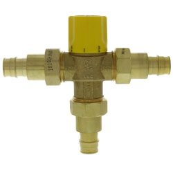 "3/4"" Expansion PEX Brass Thermostatic Mixing Valve w/ Check Valve, For Low Temp (LF) Product Image"
