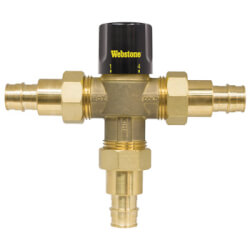"1/2"" Expansion PEX Brass Thermostatic Mixing Valve w/ Check Valve, For High Temp (LF) Product Image"