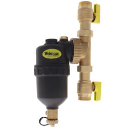 """1"""" Sweat Brass Magnetic Boiler Filter w/ Isolation Valves Product Image"""