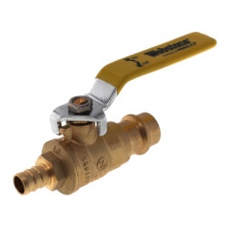 "1/2"" PEX Crimp x Copper Press Full Port Brass Ball Valve, Lead Free Product Image"