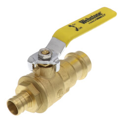 "3/4"" PEX Crimp x Copper Press Full Port Brass Ball Valve, Lead Free Product Image"
