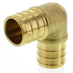 "3/4"" PEX x 3/4"" PEX Brass Elbow (Lead Free) Product Image"