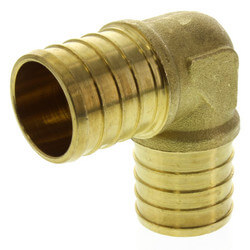 "1"" PEX x 1"" PEX Brass Elbow (Lead Free) Product Image"