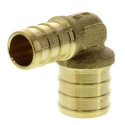 "1/2"" PEX x 3/4"" PEX Brass Elbow (Lead Free) Product Image"