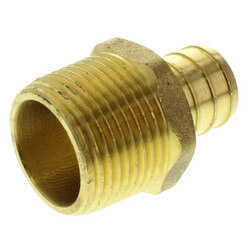 """3/4"""" PEX x 3/4"""" NPT Brass Male Adapter (Lead Free) Product Image"""