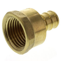 """1/2"""" PEX x 1/2"""" NPT Brass Female Adapter<br>(Lead Free) Product Image"""