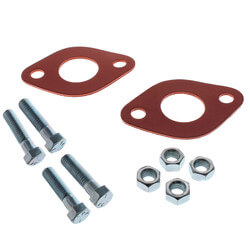 Circulator Flange Gasket Kit (2 Red Rubber Flange Gaskets, 4 Bolts w/ Nuts) Product Image