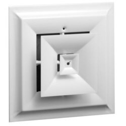 """Series 24 6"""" (Wall Opening Size) Step Down Square Ceiling Diffuser (Steel) Product Image"""