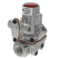 "3/8"" Baso Automatic High Temperature External Pilot Gas Valve (163,000 BTU) Product Image"