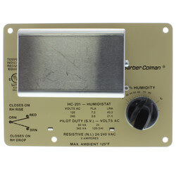 Duct 15 to 95 % RH Controller Humidistat Product Image