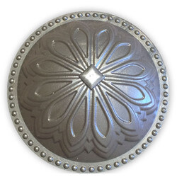 """5-1/2"""" Hermosa Dome Cleanout Cover (Seaside Silver) Product Image"""