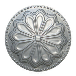 """6"""" Hermosa Flat Cleanout Cover (Seaside Silver) Product Image"""