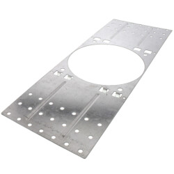 """1-1/4""""-3"""" Corrugated Metal Deck Plate for #3 Firestop Sleeve & #4 Hollow Sleeve Product Image"""