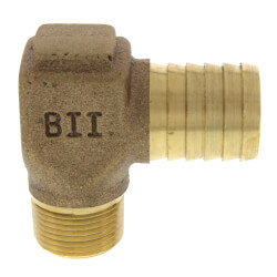 """3/4"""" MPT x 1"""" Insert Male Hydrant Elbow (Lead Free) Product Image"""